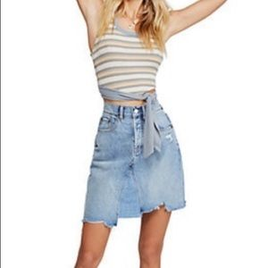 Free People Going Rogue denim skirt NWT